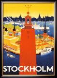 Stockholm Framed Giclee Print by  Donner