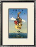 Chile by SAS, Scandinavian Airline System, c.1951 Prints by  De Ambrogio