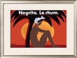 Negrita Le Rhum Framed Giclee Print by Bernard Villemot