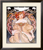 Reverie Framed Giclee Print by Alphonse Mucha