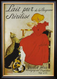 Lait pur sterilize Framed Giclee Print by Théophile Alexandre Steinlen