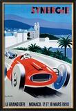Le Grand Defi Monaco, 18 Mars, 1990 Framed Giclee Print by Pierre Fix-Masseau