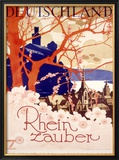 Rhine River Magic Tour Framed Giclee Print