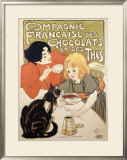 Compagnie Francaise des Chocolats et Thes Framed Giclee Print by Théophile Alexandre Steinlen
