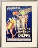 Semaine du Poisson de Dieppe Framed Giclee Print by Rene Jeandot