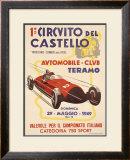 No. 1 Circuito del Castello Framed Giclee Print