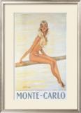 Monte-Carlo 額入りジクレープリント : ジャン=ガブリエル・ドマーグ
