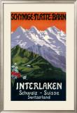 Interlaken Swiss Railway Poster, circa 1930s Framed Giclee Print