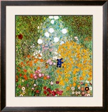 Flower Garden Prints by Gustav Klimt