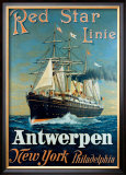 Red Star Linie: Antwerpen, New York, Philadelphia Framed Giclee Print