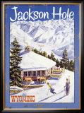 Ski Jackson Hole, Wyoming Framed Giclee Print