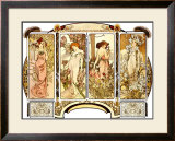 Flowers Framed Giclee Print by Alphonse Mucha