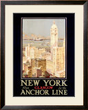 New York, Anchor Line Framed Giclee Print