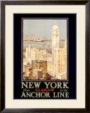 New York, Anchor Line Framed Giclee Print
