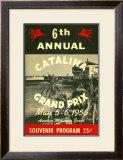 1956 Catalina Motocross Grand Prix Poster Framed Giclee Print
