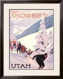 Visit Snowbird, Utah Framed Giclee Print