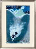 Skieurs Framed Giclee Print