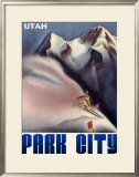 Park City Utah Mountain Framed Giclee Print