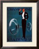 Champagne Vve. A. Devaux Framed Giclee Print by Ernest Deutsch-dryden