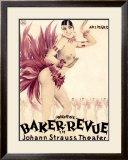 Josephine Baker Revue Framed Giclee Print by Hans Neumann