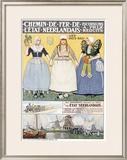 Chemin de Fer de l'Etat Framed Giclee Print by Henri Cassiers
