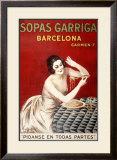 Sopas Garriga, Barcelona Framed Giclee Print by Leonetto Cappiello