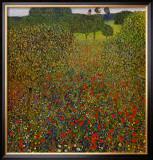 Field of Poppies Art by Gustav Klimt