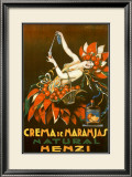 Henzi Orange Cream Soda Framed Giclee Print by Achille Luciano Mauzan