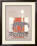M. & Mme Coradini's Menagerie Framed Giclee Print by Alfonso Iannelli