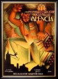 Valencia Festividad Framed Giclee Print