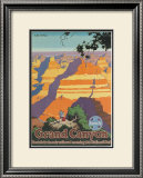 Santa Fe Railroad: Grand Canyon National Park, Arizona Print by Oscar M. Bryn