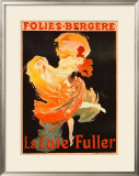 Folies Bergere, La Loie Fuller Framed Giclee Print by Jules Chéret