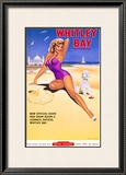 Whitley Bay Northumberland Framed Giclee Print by Bryan Li Davies