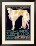 Hunde Ausstellung Framed Giclee Print by Julius Edmond Robert Nitsche
