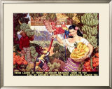 Bananas, From Lands of Tropical Splendor Framed Giclee Print by Dean Cornwell