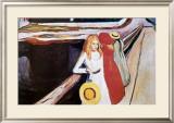 Girl on a Bridge Art by Edvard Munch
