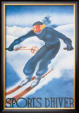 Sports d'Hiver Print by Georges Arou
