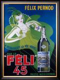 Pernod Felix 45 Framed Giclee Print by Raymond Ducatez