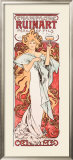 Mucha Champagne Ruinart Poster Framed Giclee Print by Alphonse Mucha