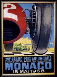 Monaco Grand Prix F1, c.1958 Framed Giclee Print
