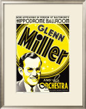 Glenn Miller and His Orchestra at the Hippodrome Theatre, Baltimore, Maryland Print by Dennis Loren