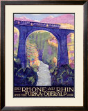 Furka Oberalp Rail Way Train Framed Giclee Print