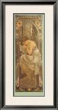 Repos de la Nuit Framed Giclee Print by Alphonse Mucha