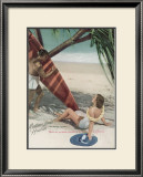Matson Lines to Hawaii Framed Giclee Print