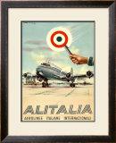 Alitalia, Aerolinee Italiane Internazionali Framed Giclee Print
