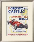 Circuito del Castello Framed Giclee Print