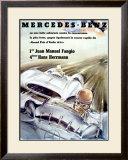 Mercedes Fangio Italian Grand Prix, c.1954 Framed Giclee Print