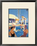 La Ciotat, Plage Framed Giclee Print by  Dabo