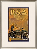 B.S.A. Motor Bicycles Art