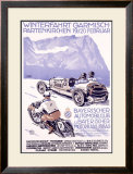 Winterfahrt Garmisch, Partenkirchen Car Race Framed Giclee Print by Alfred Hierl